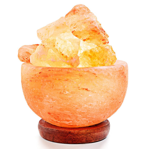 Amethya Himalayan Salt Lamp Fire Bowl,