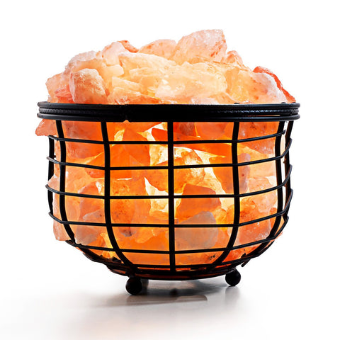 Himalayan Metal Basket Bowl Salt Lamp