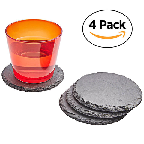 Amethya Slate Drink Coasters, Set of 4