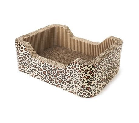 Animals Favorite Cat Scratcher Corrugated Rectangle - Brown/Cheetah