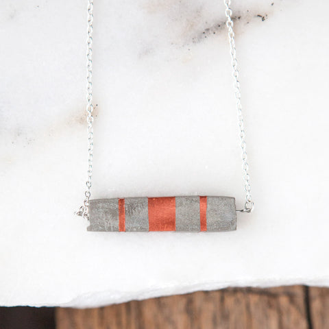Concrete Necklace Copper Rectangle Hanover Designs