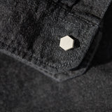 Concrete Hexagon Cufflinks (light)