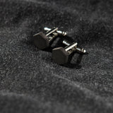 Concrete Hexagon Cufflinks (dark)