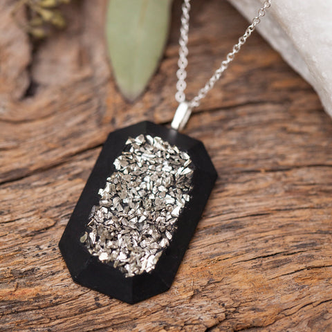 Concrete Druzy Necklace Hanover Designs