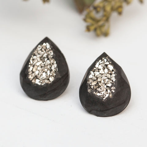 concrete druzy earrings hanover designs