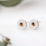 Concrete stud earrings