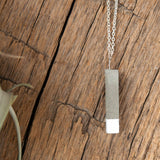 Concrete Necklace White Rectangle Hanover Designs