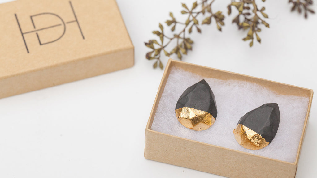 Hanover Designs Concrete Earrings Teardrop