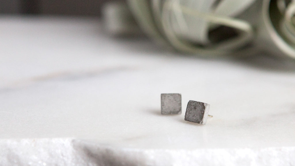 Hanover Designs Concrete Stud Earrings