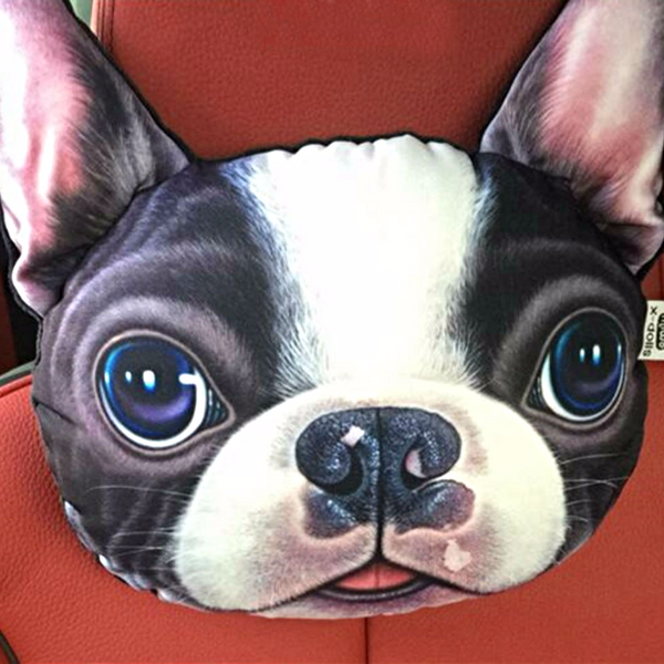 3D Chihuahua face Car Pillow