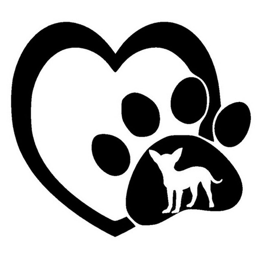 FREE Paw & Heart Chihuahua Car Sticker