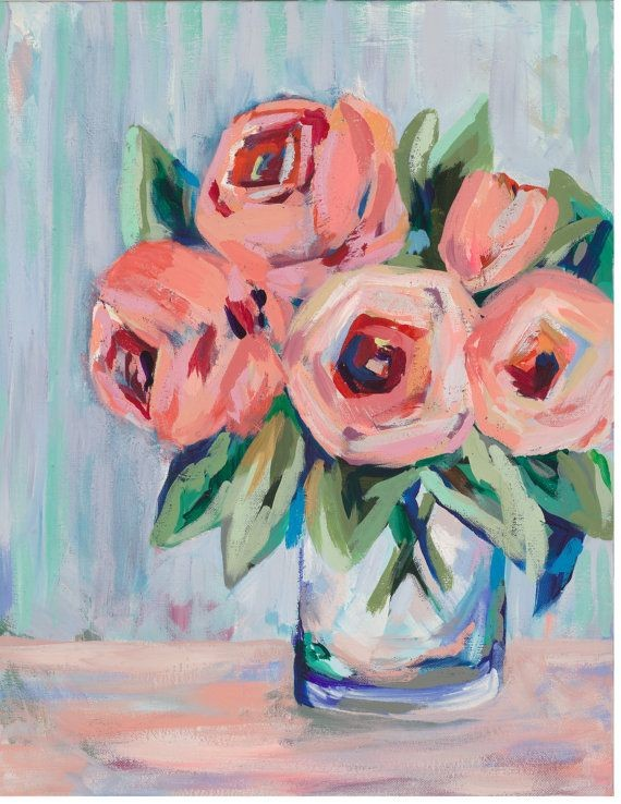 Acrylic Finger-paint Flowers- Live-Stream