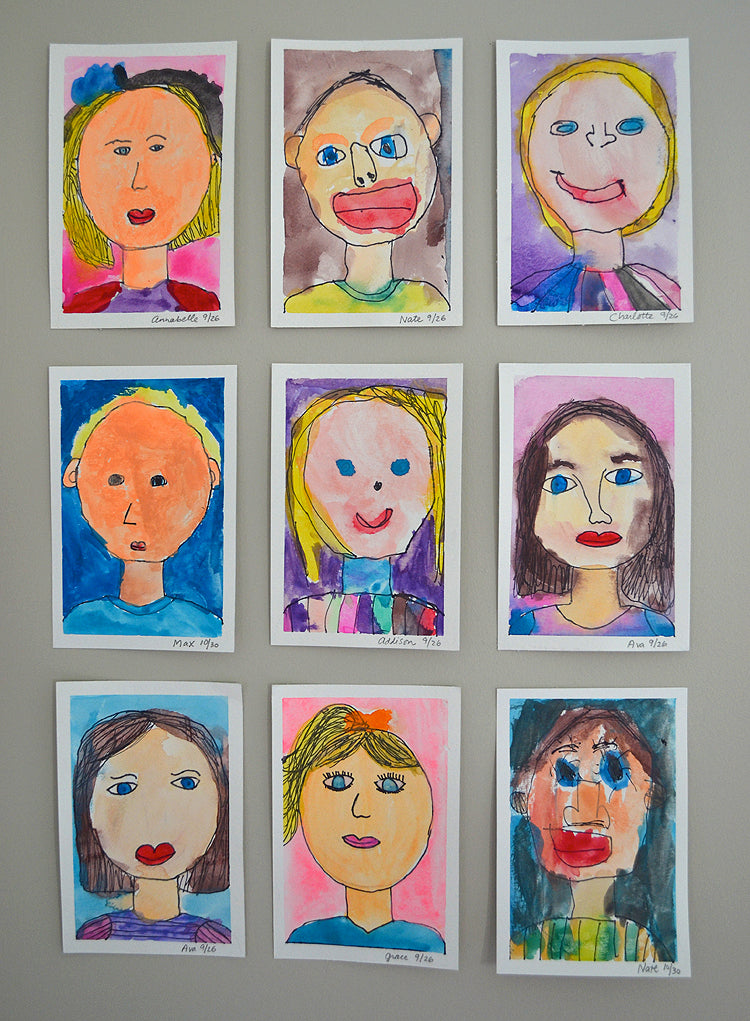 Kids Paint - Self Portraits