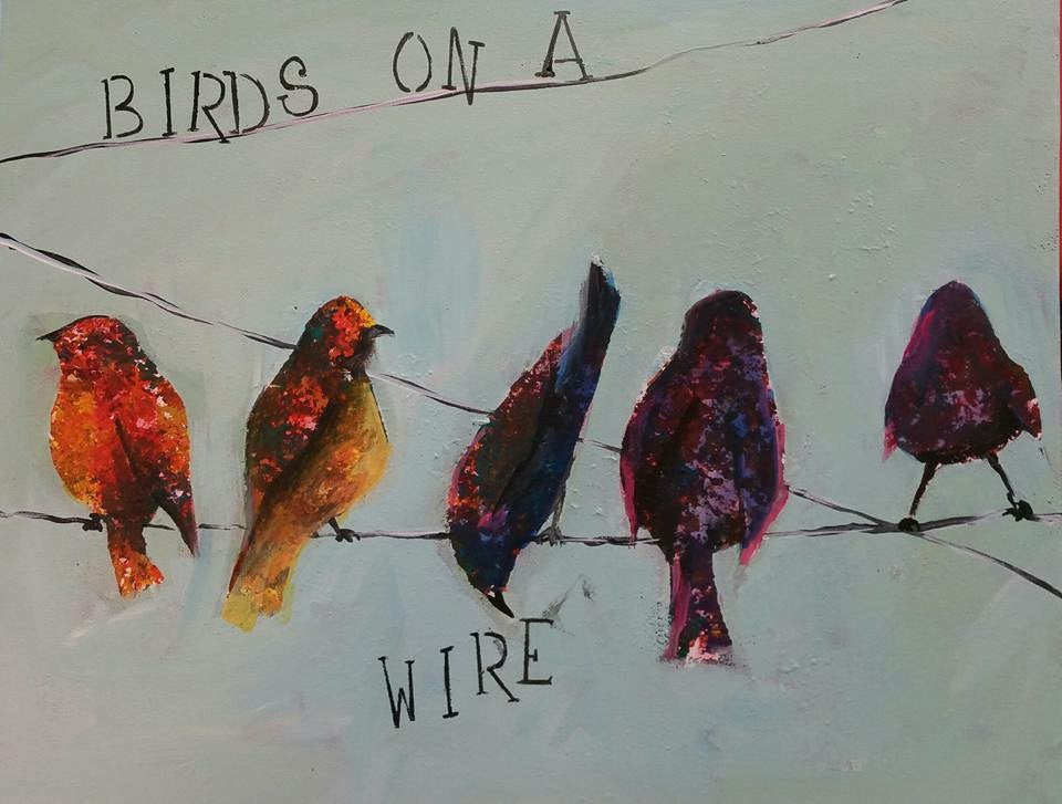 Mommy and Me - Birds on a Wire