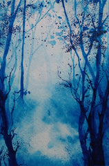 Watercolor Shades of Blue  - Live-Stream