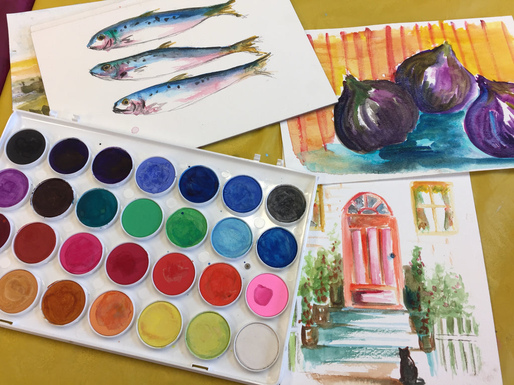 watercolor essentials christine mac shane art