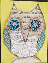 Mother's Day Paint - Collage Owl