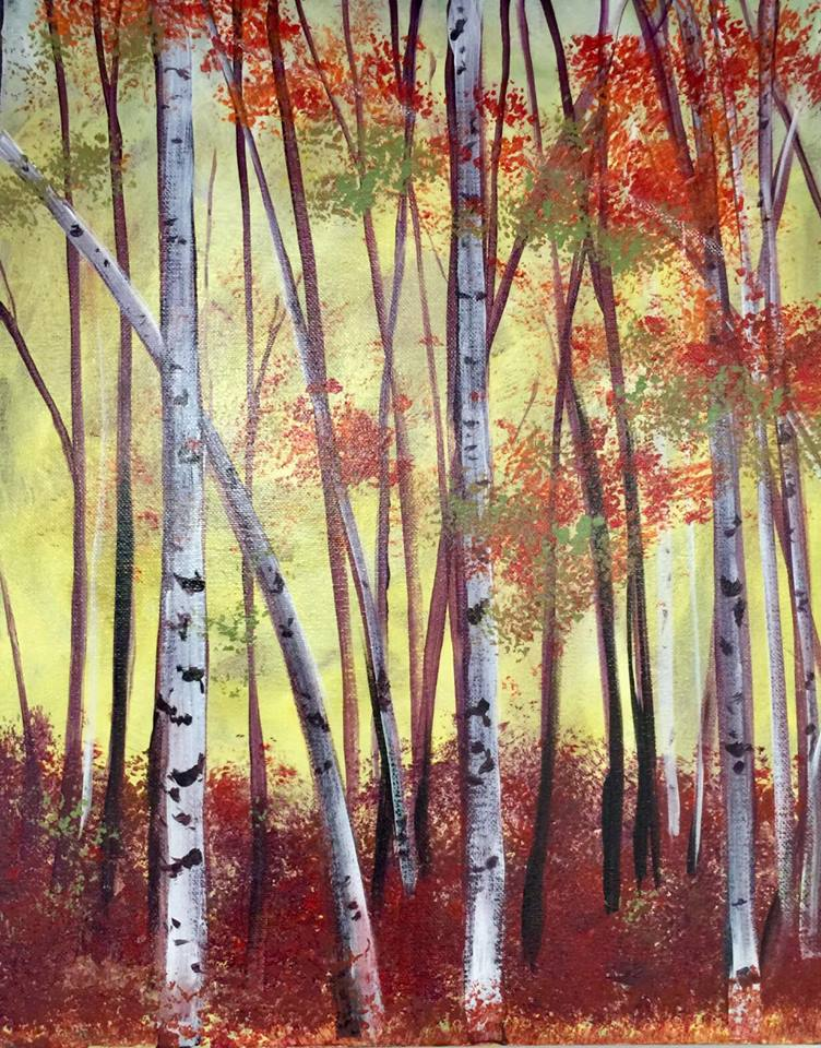 Birch Trees - Fundraiser for Chico Peace & Justice Center