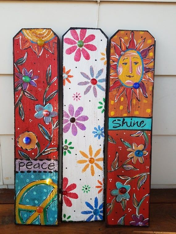 Fence Board - Hippie, Peace, Freak