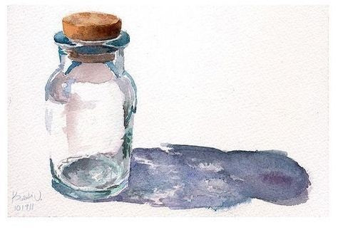 Watercolor Glass Bottle - Live-Stream