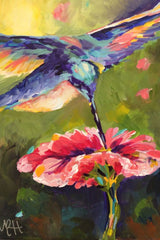 Hummingbird and Flower - Special $30