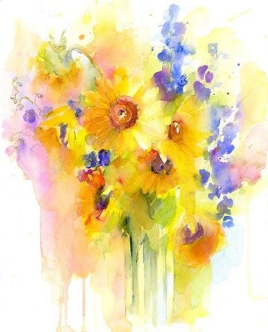 Watercolor Flowers - Live-Stream