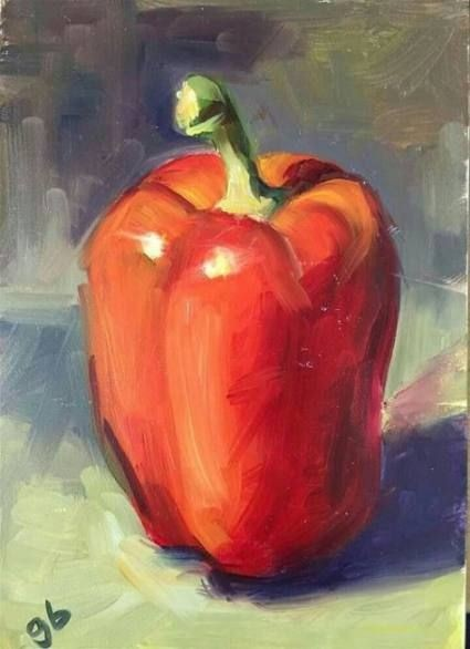 Acrylic Red Pepper - Live-Stream