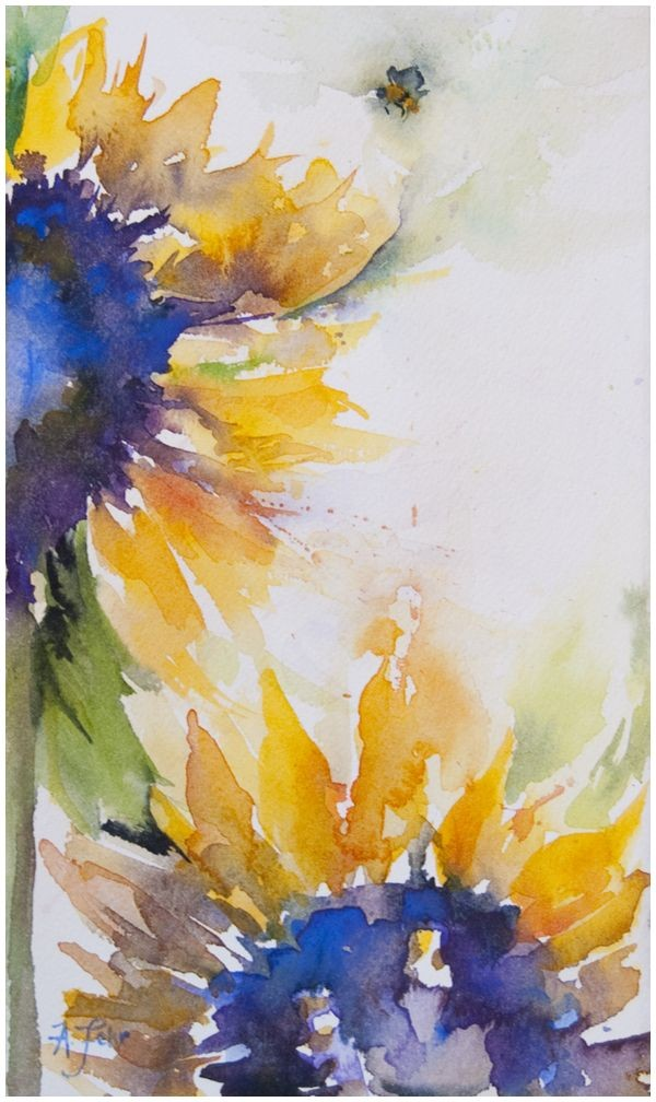 Watercolor Sunflower