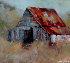 Zoom Watercolor Red Roof Barn