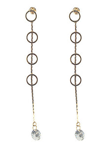 Long Crystal Charm Earrings - TeaseL.A.