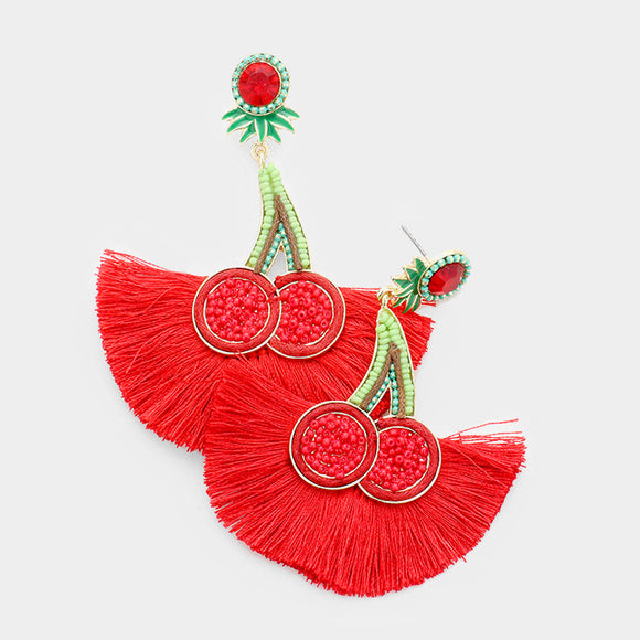 Cherry Tassel Earrings - TeaseL.A.