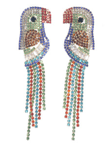 Crystal Parrot Earrings - TeaseL.A.