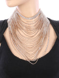 Goddess Draped Crystal Necklace - TeaseL.A.