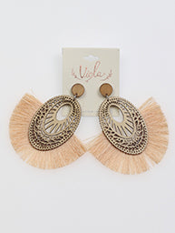 Oval Virgo Earrings