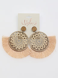 Circle Virgo Earrings