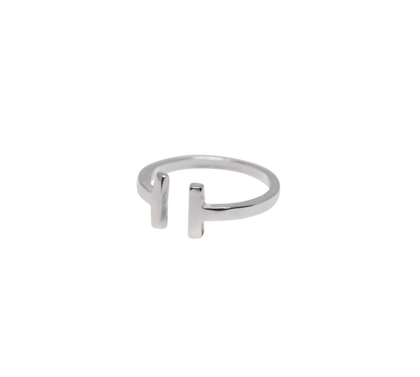 Double T Ring - Sterling Silver