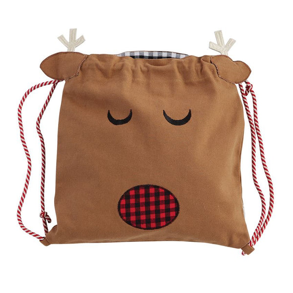 Reindeer Drawstring Bag