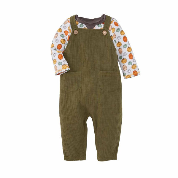 MudPie Olive Jumper with T-Shirt