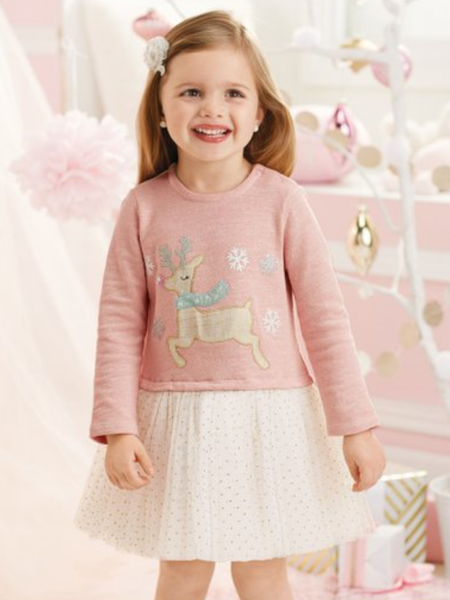 Mudpie Dress -  Reindeer Sparkle Tutu
