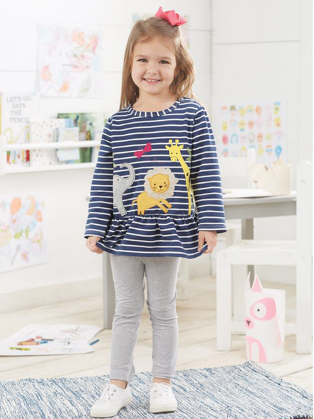 Mudpie Sweatshirt -  Girls Animal Parade