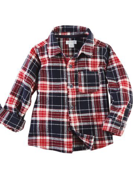 Mudpie Flannel Shirt - Red