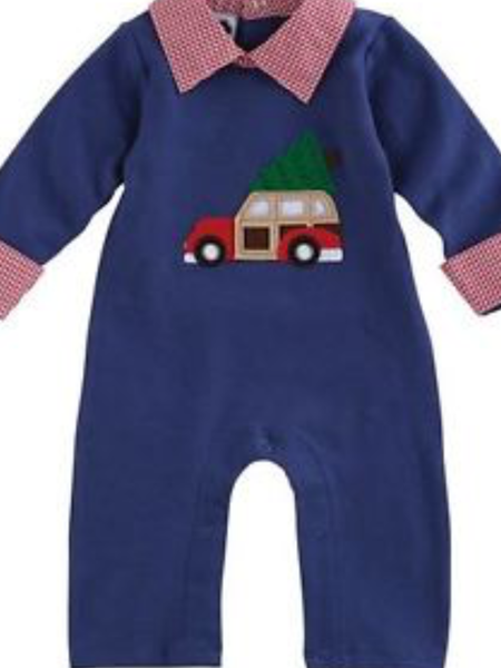 Mudpie Romper- One Piece Holiday Car (Special)