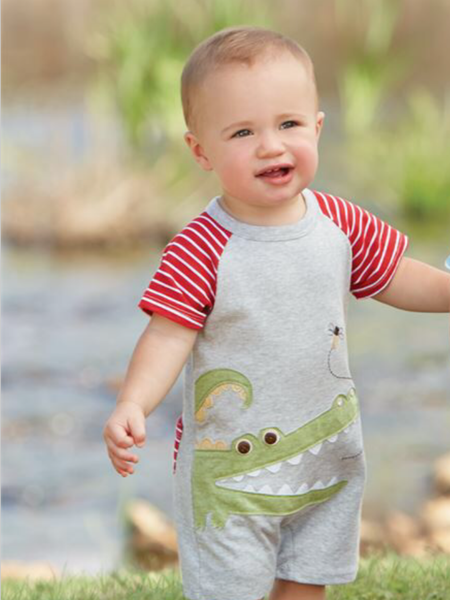 Mudpie Romper Alligator
