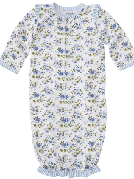 Mudpie Convertible Gown -  Blue Floral Bamboo