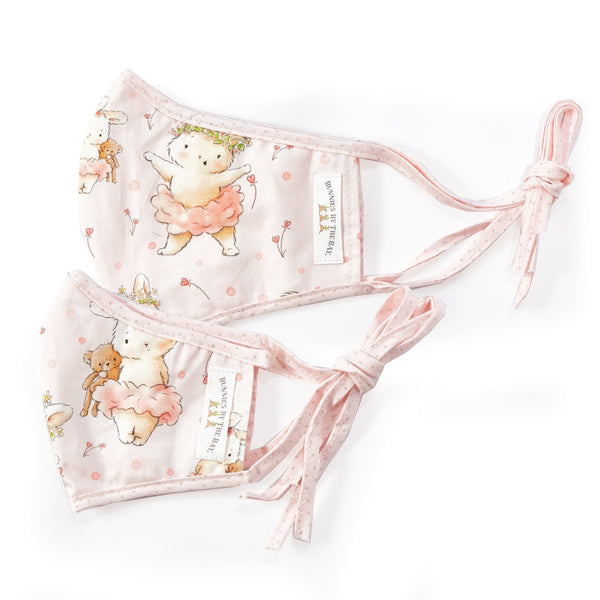 Bunnies By The Bay Cloth Adult Face Mask - Blossom