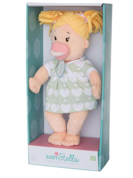 Baby Stella Blonde Doll with Pigtails