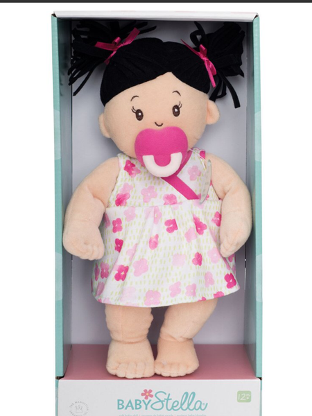 Baby Stella Doll with Dark Pigtails