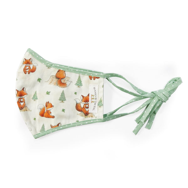 Bunnies By the Bay Cloth Child Face Mask - Foxy