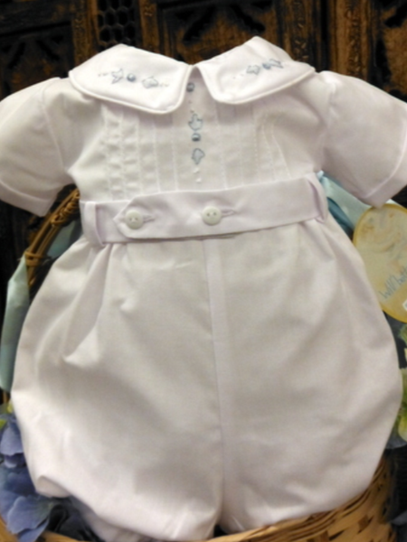 Will'beth White Boys Romper