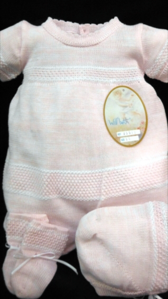 Will'beth Pink Bring Me Home Knit Romper